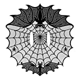 Heritage Lace 60-Inch by 62-Inch Bats Cape Lace, Black