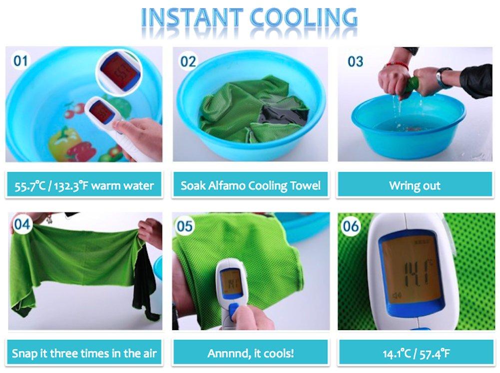 Amazon.com - Alfamo 40*12 Inches Soft Breathable Chill Instant ...