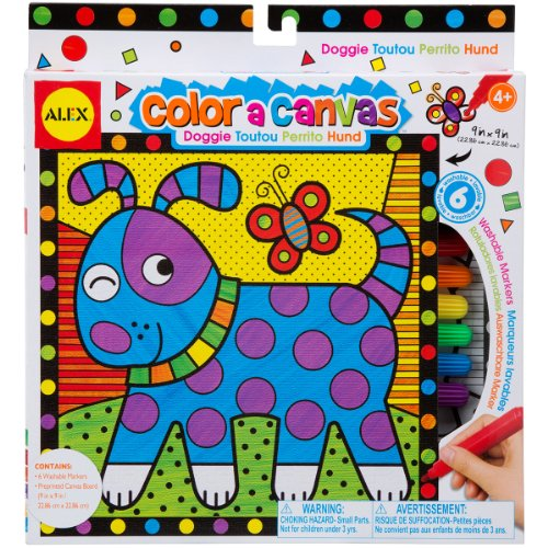 ALEX Toys Artist Studio Color a Canvas Doggie Kit