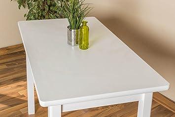 Weißer Esstisch 60x110 cm Kiefer, Farbe: Weiß