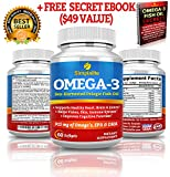 Simplalite Fish Oil Omega 3 (60 Capsules) Comes with 100% Free Ebook - Supports Healthy Heart, Brain, Joints, Vision and Skin - Boosts Immune System with No Side Effects! Live Longer and Healthier!