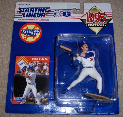 1995 - Kenner - Starting Lineup / Extended Series - Mike Piazza #31 Action Figure - Los Angeles Dodgers - w/ Trading Card - Out of Production - New - Limited Edition - Collectible