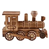 Jili Online Wooden Retro Train Engine Model Home Desk Office Decoration Kids Car Vhicle Toys Gifts (Tamaño: as described)