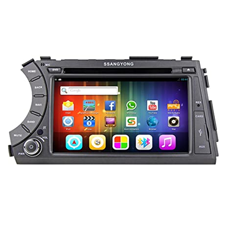 "Rungrace Lecteur DVD Autoradio Android 7"" 2 Din Ecran Tactile TFT Pour Ssangyong Acyton Kyron avec Bluetooth, GPS, RDS, iPod, WIFI, DVB-T (RL-918AGDR"
