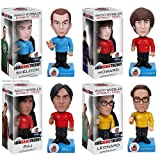 Funko - Big Bang Theory STAR TREK 18cm Wackelkopf-Figuren 4er Set (Sheldon Leonard Howard und Raj)