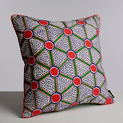Embroidered Cell Cushion by Nathalie Du Pasquier for WRONG FOR HAY