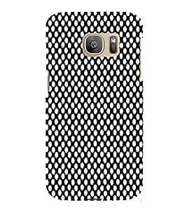 Black Crazi Dot Pattern 3D Hard Polycarbonate Designer Back Case Cover for Samsung Galaxy S7 Edge :: Samsung Galaxy S7 Edge Duos G935F