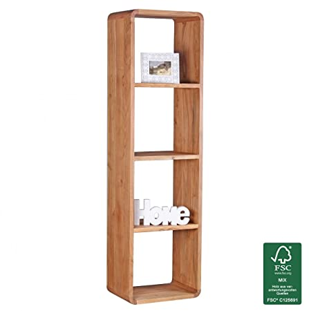 Wohnling 50x 35x 190cm Acacia Legno massello libro scaffale