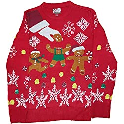 christmas gingerbread man oh snap red pullover sweater