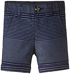 United Colors of Benetton Baby Boys Shorts (15A4PK3504Z5I901_Blue and White Stripe_0Y)