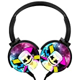 MarsMerch-Logo Wired Headsets Headphones Axis Rotation Hi-Fi 3D DIY Customized Heavy Bass Stereo Headsets Headsets