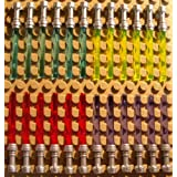 Lego Star Wars 24 Light Sabers 6x Yellow 6x Red 6x Blue 6x Purple With Flat Silver Hilts