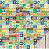 Pebbles Lakeside Road Signs 12x12 Scrapbook Paper