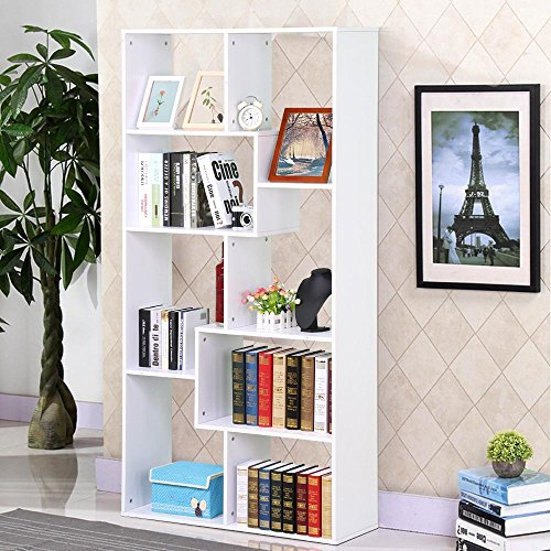 go2buy Modern Casual Bookcase Multi Cube Bookshelf Hollow Core Display Shelf Storage Shelves Shelving Unit (White) (Wall Unit Bookcase compare prices)