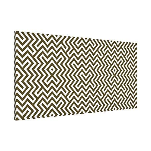 magnettafel geometrisches design braun memoboard design quer metall magnet pinnwand motiv wand. Black Bedroom Furniture Sets. Home Design Ideas