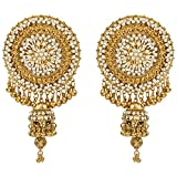 Tohfa Planet Golden Dangle And Drop Earrings For Women