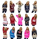 LADIES CHRISTMAS XMAS JUMPER WOMENS F...