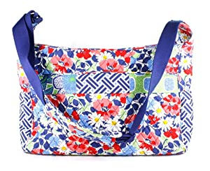 vera bradley crossbody baby bag in blue medley diaper tote bags baby. Black Bedroom Furniture Sets. Home Design Ideas