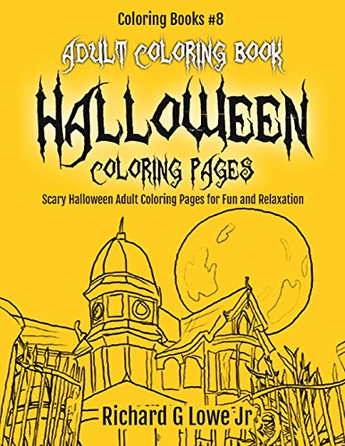Scary Halloween Coloring Pages Adults : Funny u2013 peaceful patterns coloring therapy