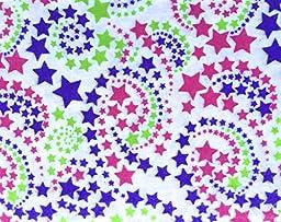 Star Dust Swirl Kids Soft Flannel Sheet Set - (Twin)