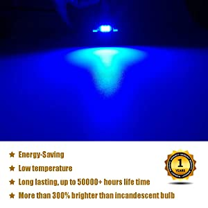 iBrightstar Newest 9-30V Extremely Bright 6411 6418 C5W Festoon Error Free 1.5 36mm LED for Interior Map Dome Lights and License Plate Courtesy Lights Xenon White