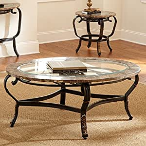 Silver Gallinari Oval Marble And Glass Top Coffee Table Round Coffee