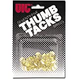 Officemate OIC Thumb Tacks, #2 Brass Plated, Gold, 75 Pack (30150)
