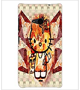 PrintDhaba Kitty D-4970 Back Case Cover for MICROSOFT LUMIA 535 (Multi-Coloured)