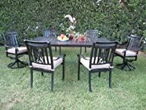 Hot Sale CBM Heaven Collection Outdoor Patio Furniture Dining Set with 2 Swivel Chairs CBM1290