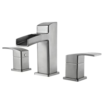 "Pfister LG49-DF0K Kenzo 2-Handle 8"" Widespread Bathroom Faucet in Brushed Nickel, 1.2gpm"