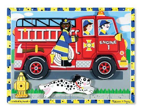 Melissa & Doug Deluxe Fire Truck Chunky Puzzle