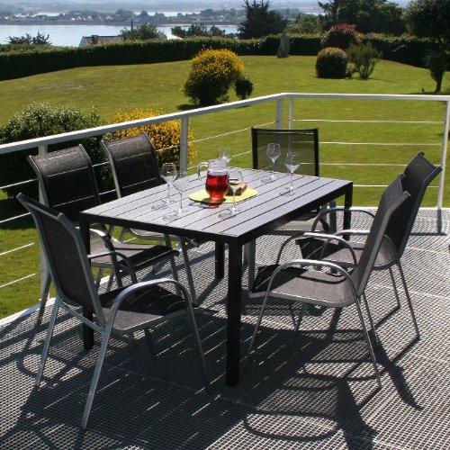 ensemble table et chaises jardin aluminium pas cher. Black Bedroom Furniture Sets. Home Design Ideas