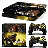 Ps4 Playstation 4 Console Skin Decal Sticker Dark Soul 3 + 2 Controller Skins Set
