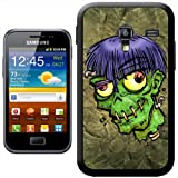 Zombie Monster With Worms In Head Halloween Hard Case Clip On Back Cover For Samsung Galaxy ACE 2 i8160