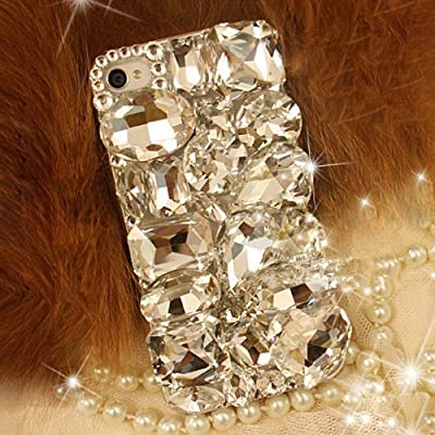 XDAYS(TM) 3D Bling Shine Diamante Shaped Diamond Stones Crystal Hard Phone Case Cover For Smart Mobile Phones by XDAYS