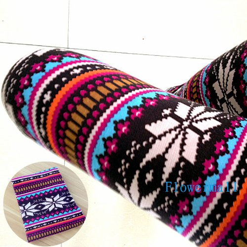 Fashion Hot Womens Colorful Pattern Retro Knitted