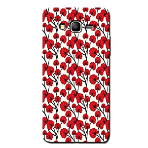 RED FLOWERS BACK COVER FOR SAMSUNG ON5