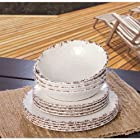 Melamine Dinnerware 12PC Set (Cream)