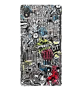 Vintage Wallpaper 3D Hard Polycarbonate Designer Back Case Cover for Sony Xperia Z3 :: Sony Xperia Z3 Dual :: Sony Xperia Z3 D6633