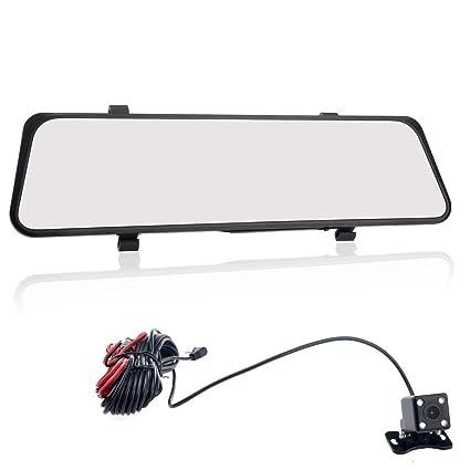 Foxnovo E50 4,3 pouces LCD 140 degrés grand Angle H.264 FHD 1080p Dual Lens voiture DVR rétroviseur avec G-sensor/AV-in /TF Slot