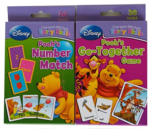 Set of 2 Winnie the Pooh Card Decks, Number Match and Go-together Game - 1