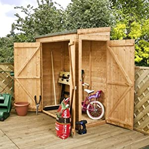 6ft x 3ft modular shiplap pent wooden storage shed brand for Garden shed 6x3