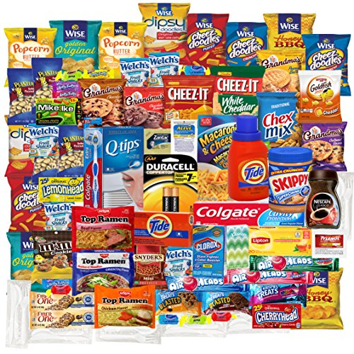 College care package premium gift for Students and military Home away bundle (76 count) (Home Care Package compare prices)