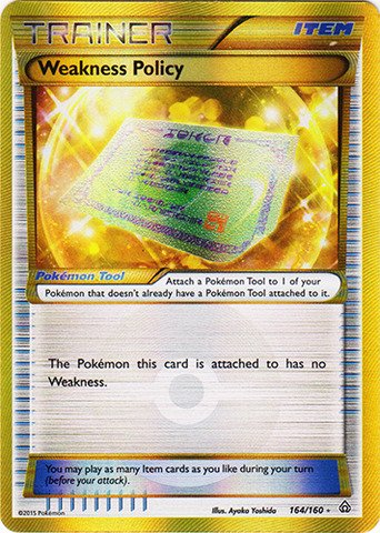 Pokemon - Weakness Policy (164/160) - XY Primal Clash - Holo
