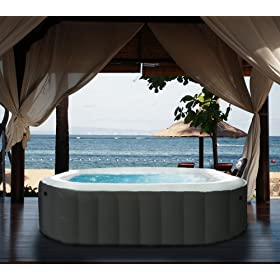 M Spa Model B-90 Apline Hot Tub 62 by 62 by 27-Inch Black
