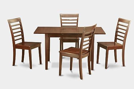 East West Furniture NOML5-MAH-LC 5-Piece Kitchen Tables Set