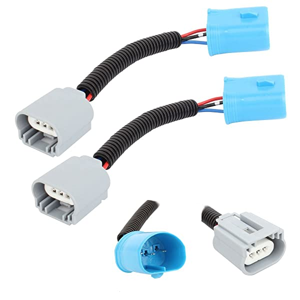 H13 9008 Extension Wiring Harness Ceramic Socket For Headlights High Low Beam