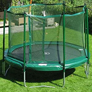 Jumpfree Kidwise 14 ft. Trampoline Combo - Trampoline with Safety Enclosure- KW-JFT-14-TSN-G