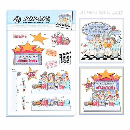 Art Impressions Pop-Ups 4 Sheets 2 Designs-Deco Set 1