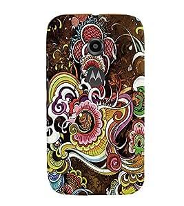 Fuson 3D Printed Designer back case cover for Motorola Moto E2 - D4285